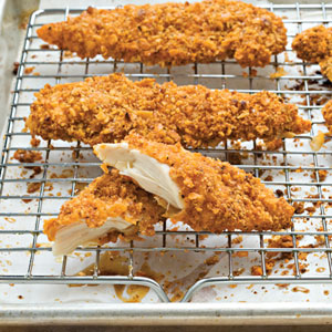 Oven Baked Pecan Crusted Chicken Fingers