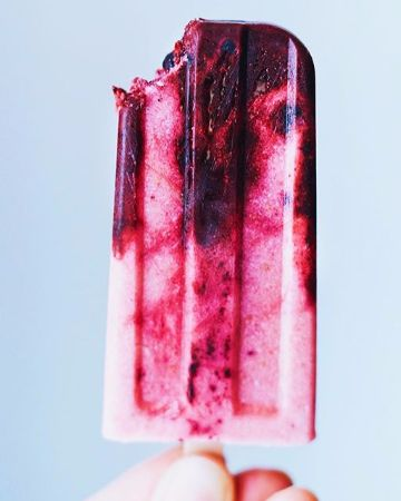 Blueberry Strawberry Popsicle